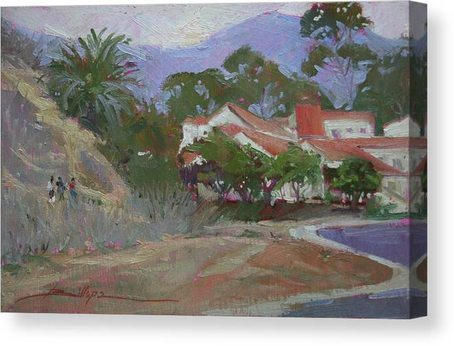 Catalina Island Ca Canvas Print featuring the painting Going Home Catalina by Betty Jean Billups