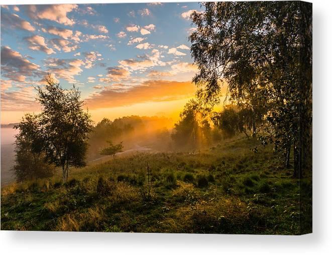 Scenics Canvas Print featuring the photograph Golden Sunrise by William Mevissen