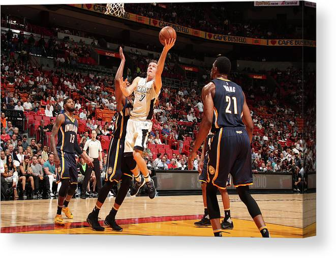 Nba Pro Basketball Canvas Print featuring the photograph Goran Dragic by Issac Baldizon