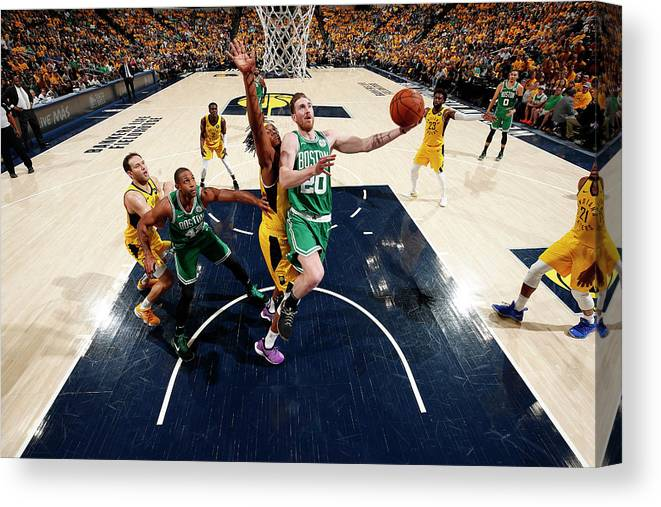 Playoffs Canvas Print featuring the photograph Gordon Hayward by Jeff Haynes