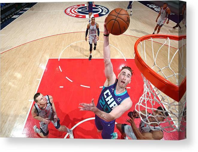 Nba Pro Basketball Canvas Print featuring the photograph Gordon Hayward by Stephen Gosling