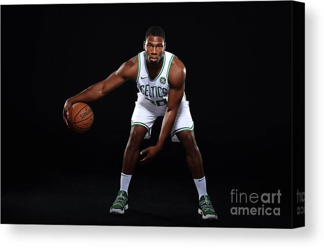 Media Day Canvas Print featuring the photograph Guerschon Yabusele by Brian Babineau