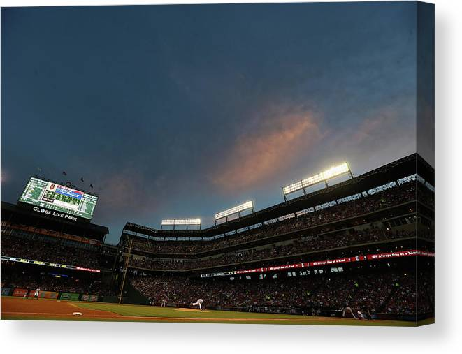 People Canvas Print featuring the photograph Hanley Ramirez and Yovani Gallardo by Ronald Martinez