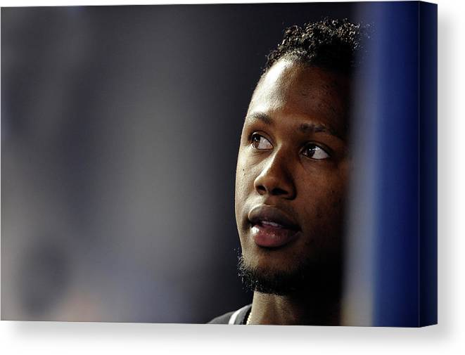 Looking Canvas Print featuring the photograph Hanley Ramirez by Ronald C. Modra/sports Imagery