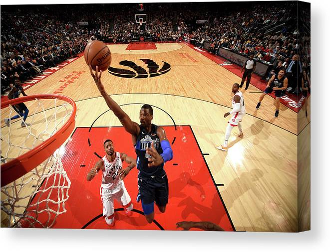 Nba Pro Basketball Canvas Print featuring the photograph Harrison Barnes by Ron Turenne