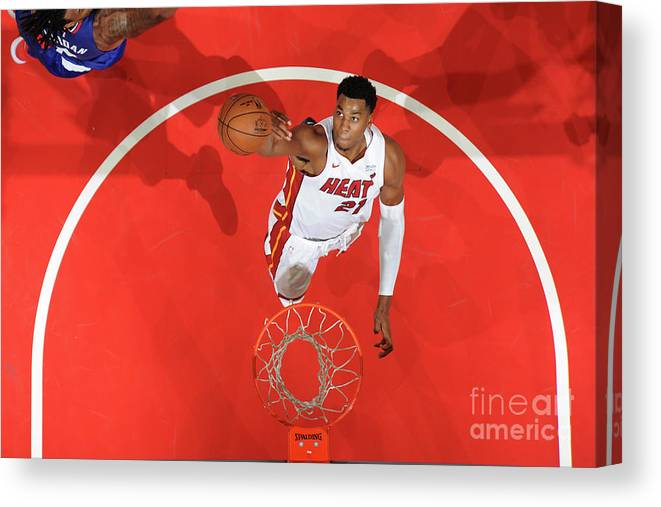 Nba Pro Basketball Canvas Print featuring the photograph Hassan Whiteside by Andrew D. Bernstein