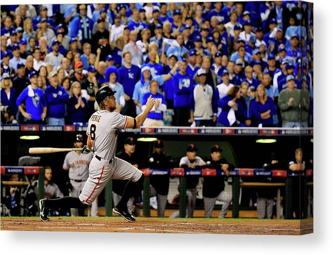 People Canvas Print featuring the photograph Hunter Pence by Rob Carr