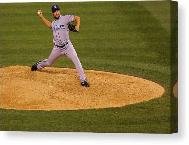 Ninth Inning Canvas Print featuring the photograph Huston Street by Justin Edmonds