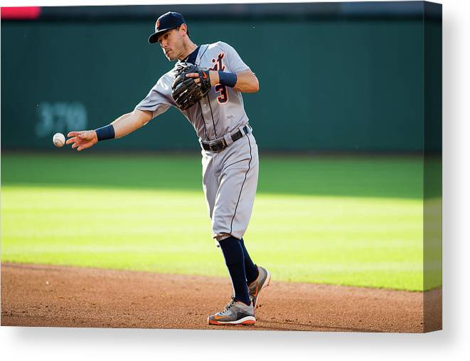 Second Inning Canvas Print featuring the photograph Ian Kinsler by Jason Miller