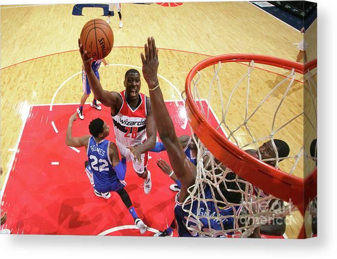 Nba Pro Basketball Canvas Print featuring the photograph Ian Mahinmi by Ned Dishman