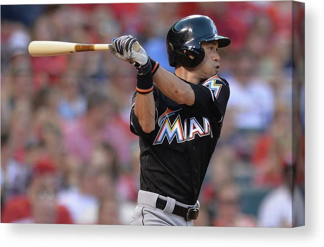 St. Louis Cardinals Canvas Print featuring the photograph Ichiro Suzuki by Michael Thomas