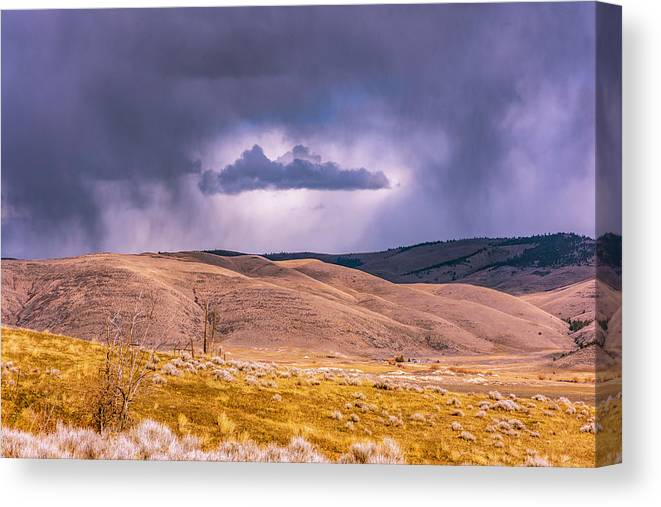 Little Bitterroot Valley Canvas Print featuring the photograph Is That Cloud Holy? by Bryan Spellman