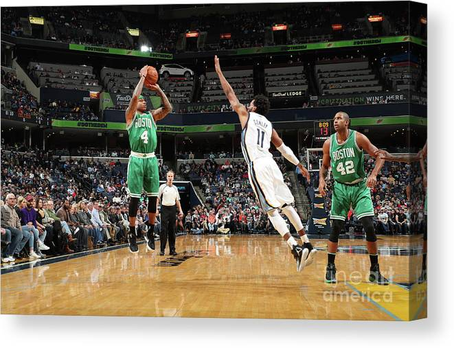 Nba Pro Basketball Canvas Print featuring the photograph Isaiah Thomas by Joe Murphy