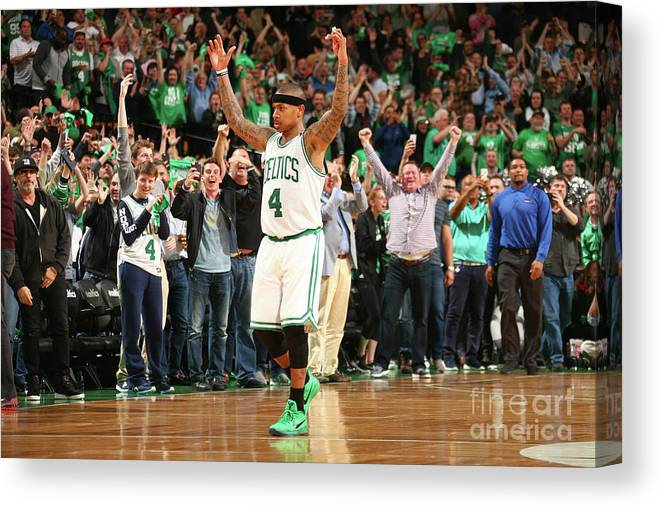Playoffs Canvas Print featuring the photograph Isaiah Thomas by Ned Dishman