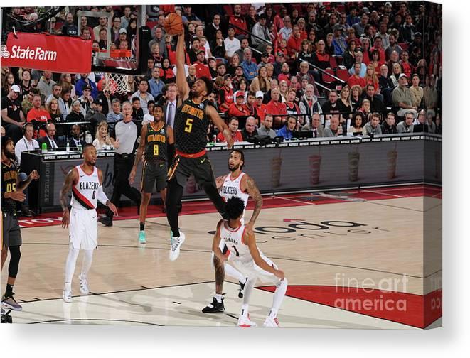 Nba Pro Basketball Canvas Print featuring the photograph Jabari Parker by Cameron Browne