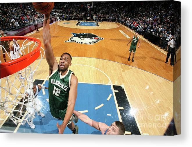 Nba Pro Basketball Canvas Print featuring the photograph Jabari Parker by David Sherman