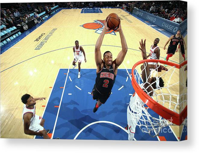 Nba Pro Basketball Canvas Print featuring the photograph Jabari Parker by Nathaniel S. Butler