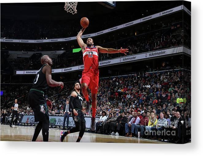 Nba Pro Basketball Canvas Print featuring the photograph Jabari Parker by Stephen Gosling