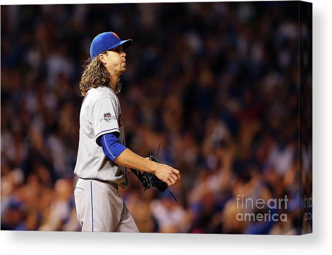 Jacob Degrom Canvas Print featuring the photograph Jacob Degrom and Jorge Soler by Elsa
