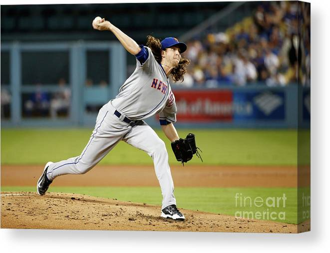 Jacob Degrom Canvas Print featuring the photograph Jacob Degrom by Sean M. Haffey