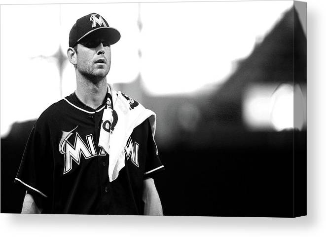 American League Baseball Canvas Print featuring the photograph Jacob Turner by Mike Ehrmann