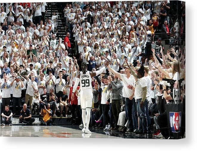 Playoffs Canvas Print featuring the photograph Jae Crowder by Melissa Majchrzak