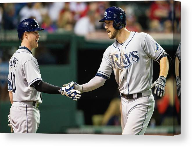 Jake Elmore Canvas Print featuring the photograph Jake Elmore and Steven Souza by Jason Miller