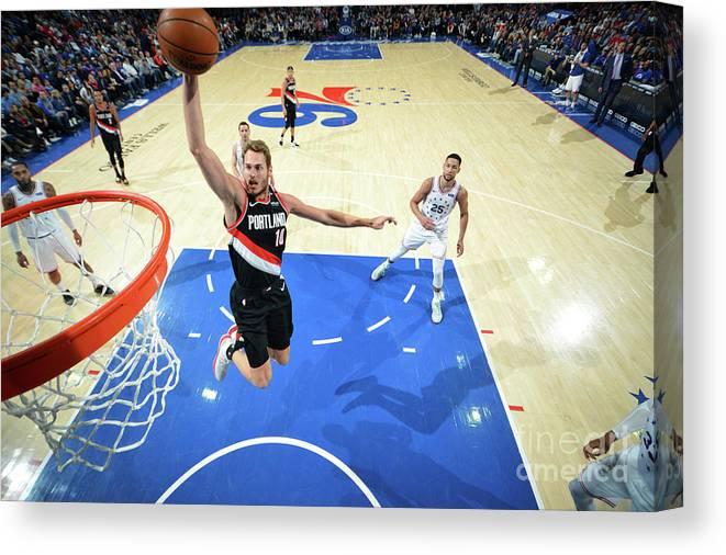 Nba Pro Basketball Canvas Print featuring the photograph Jake Layman by Jesse D. Garrabrant