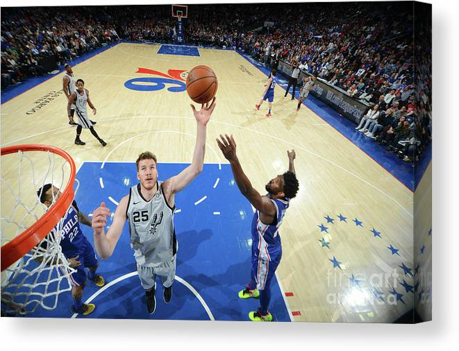 Nba Pro Basketball Canvas Print featuring the photograph Jakob Poeltl by Jesse D. Garrabrant
