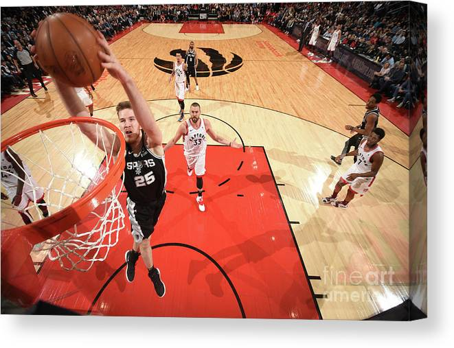 Nba Pro Basketball Canvas Print featuring the photograph Jakob Poeltl by Ron Turenne