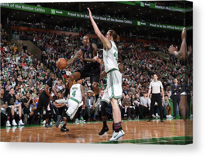 Nba Pro Basketball Canvas Print featuring the photograph Jamal Crawford by Brian Babineau
