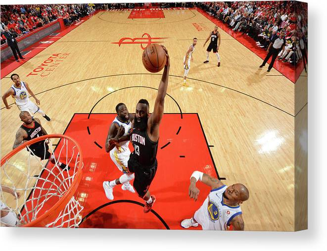 Playoffs Canvas Print featuring the photograph James Harden by Jesse D. Garrabrant