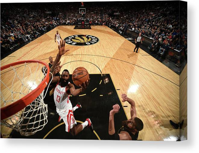 Nba Pro Basketball Canvas Print featuring the photograph James Harden by Ron Turenne