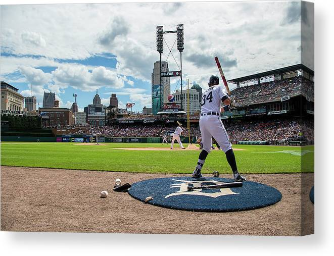 American League Baseball Canvas Print featuring the photograph James Mccann by Dave Reginek