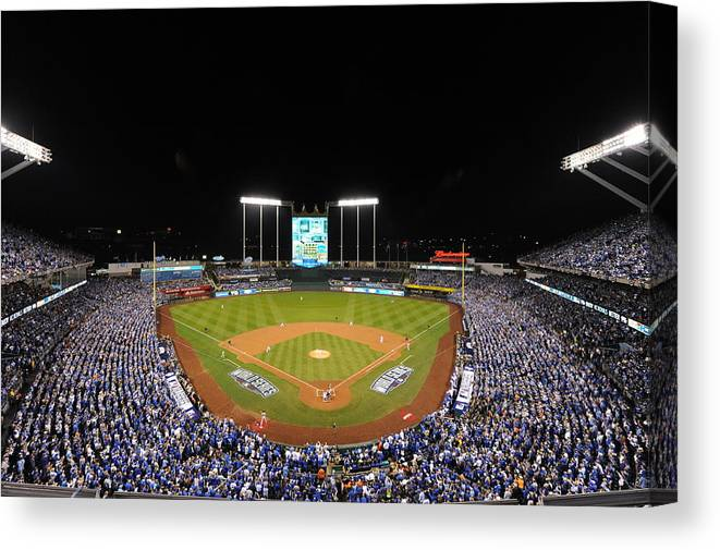 Playoffs Canvas Print featuring the photograph James Shields by Mlb Photos