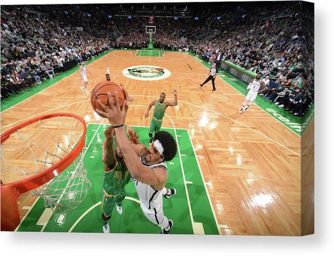 Nba Pro Basketball Canvas Print featuring the photograph Jarrett Allen by Brian Babineau