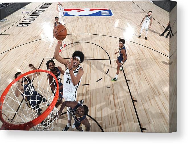 Nba Pro Basketball Canvas Print featuring the photograph Jarrett Allen by Joe Murphy