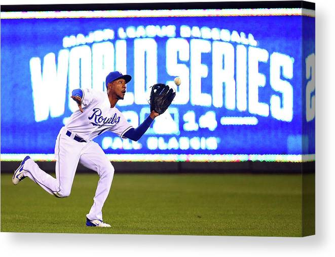 Game Two Canvas Print featuring the photograph Jarrod Dyson by Dilip Vishwanat