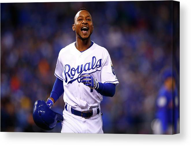 Three Quarter Length Canvas Print featuring the photograph Jarrod Dyson by Jamie Squire