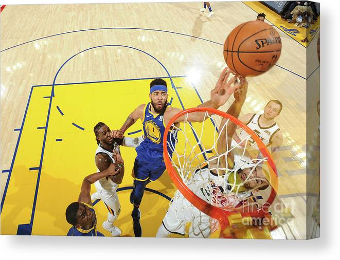 Nba Pro Basketball Canvas Print featuring the photograph Javale Mcgee by Noah Graham