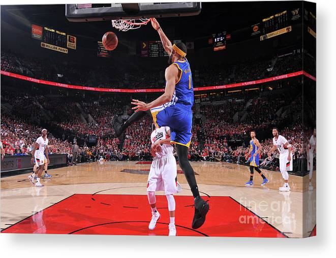 Playoffs Canvas Print featuring the photograph Javale Mcgee by Sam Forencich