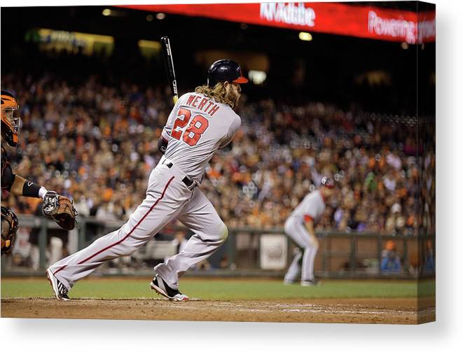 San Francisco Canvas Print featuring the photograph Jayson Werth by Ezra Shaw