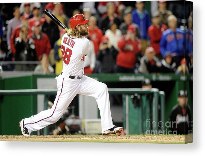 American League Baseball Canvas Print featuring the photograph Jayson Werth by Greg Fiume