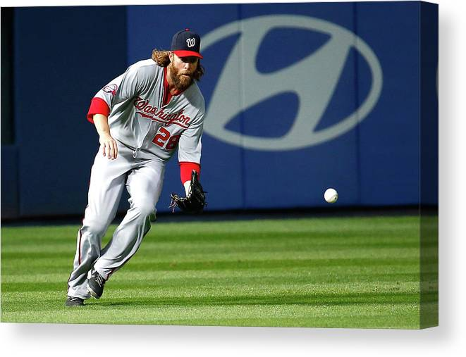 Atlanta Canvas Print featuring the photograph Jayson Werth by Kevin C. Cox