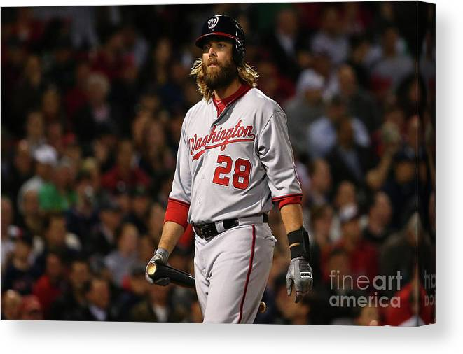 Three Quarter Length Canvas Print featuring the photograph Jayson Werth by Maddie Meyer
