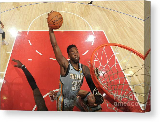 Nba Pro Basketball Canvas Print featuring the photograph Jeff Green by Andrew D. Bernstein
