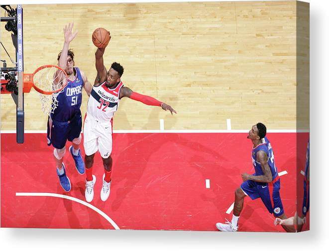 Nba Pro Basketball Canvas Print featuring the photograph Jeff Green by Ned Dishman