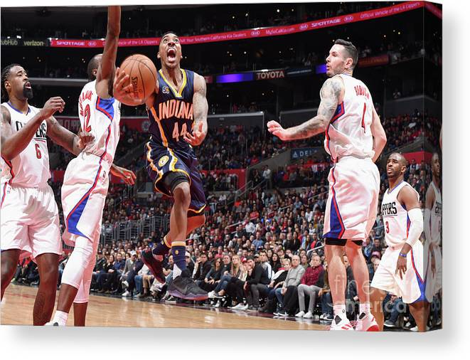 Nba Pro Basketball Canvas Print featuring the photograph Jeff Teague by Andrew D. Bernstein