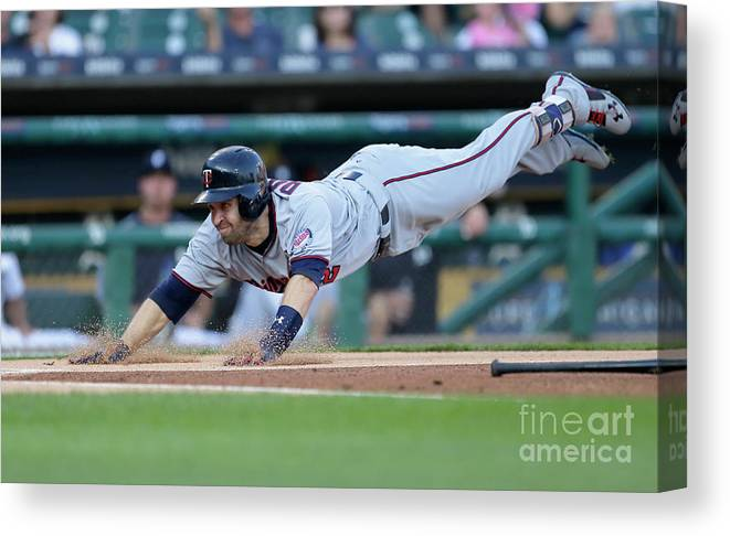 People Canvas Print featuring the photograph Jeimer Candelario and Brian Dozier by Duane Burleson
