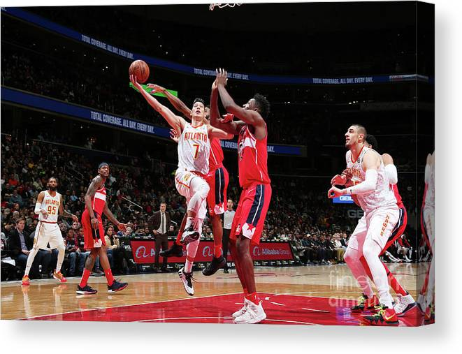 Nba Pro Basketball Canvas Print featuring the photograph Jeremy Lin by Ned Dishman